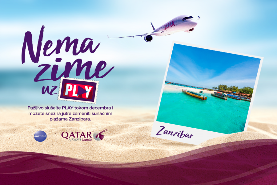 PLAY i QATAR AIRWAYS te vode na Zanzibar!